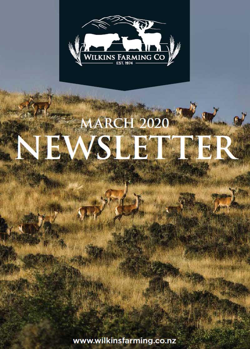 Wilkins Farming | March 2020 Newsletter